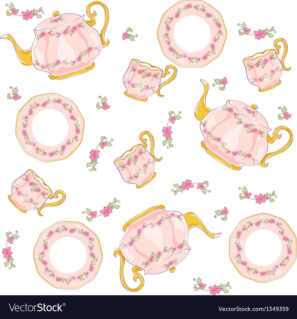 Tea sets vector | Price: 1 Credit (USD $1)