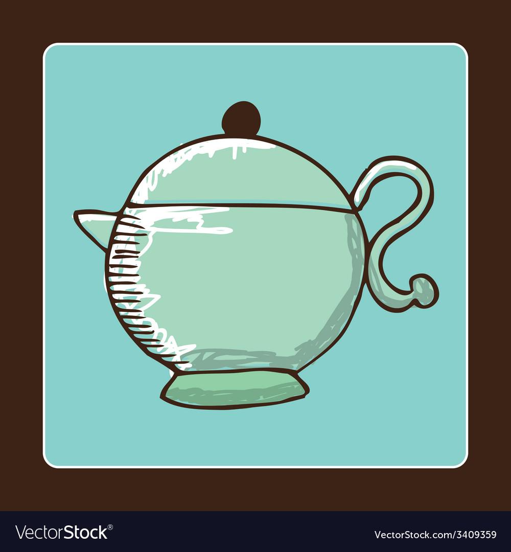 Teapot design vector   Price: 1 Credit (USD $1)