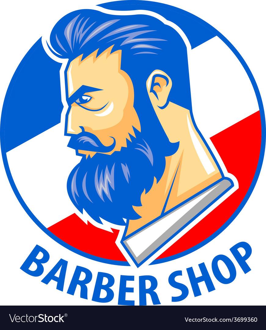 Barbershop logo vector | Price: 1 Credit (USD $1)