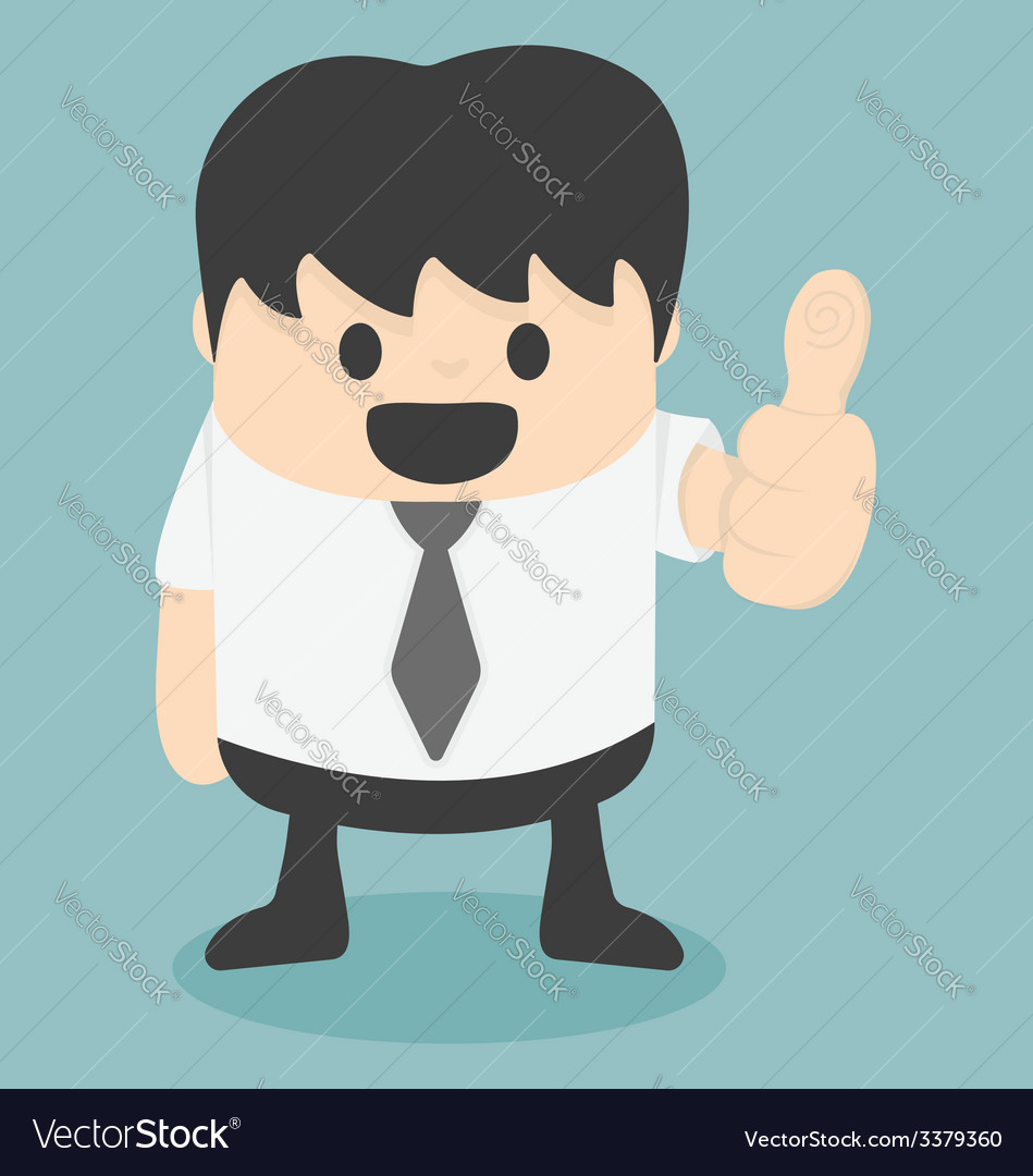 Businessman thumbs vector | Price: 1 Credit (USD $1)