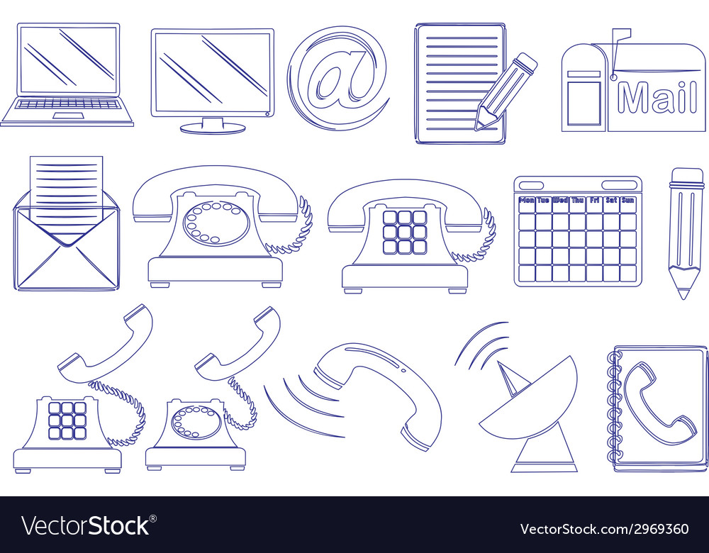 Doodle design of the different tools for vector | Price: 1 Credit (USD $1)