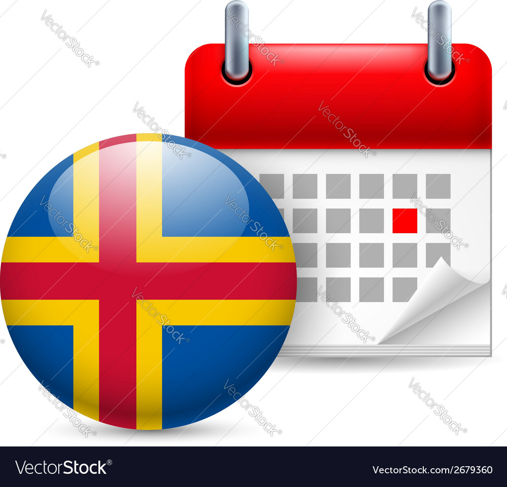Icon of national day on aland islands vector | Price: 1 Credit (USD $1)