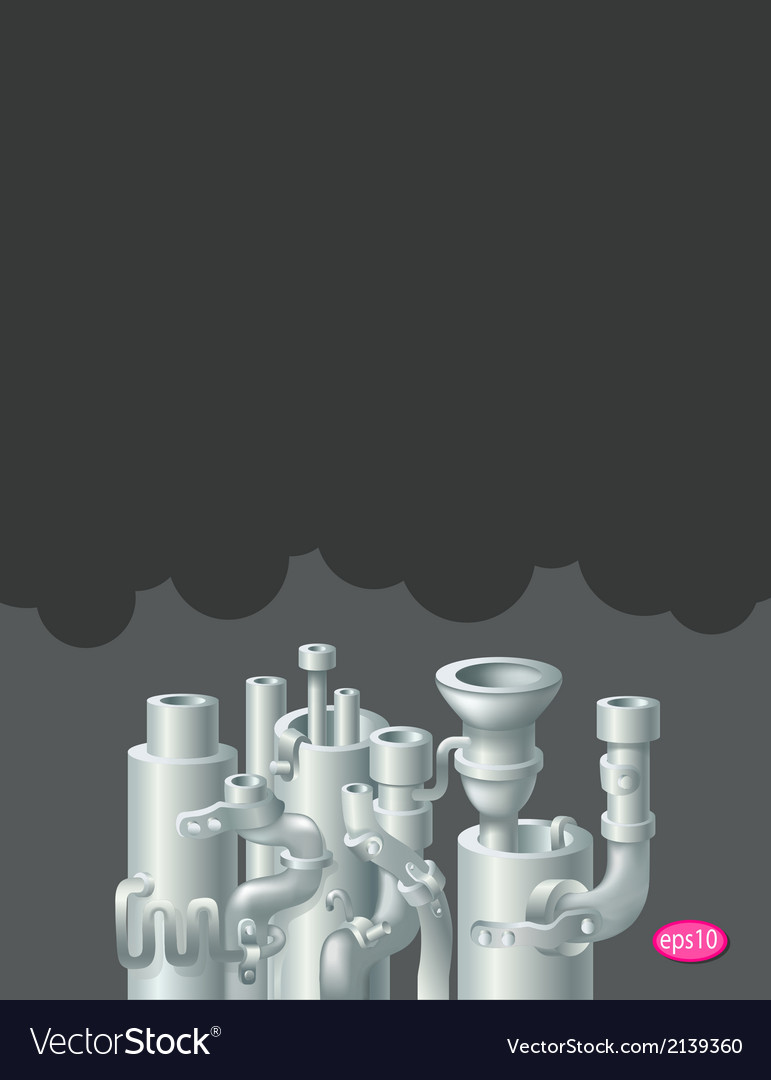 Industrial metal pipe stack design vector | Price: 1 Credit (USD $1)
