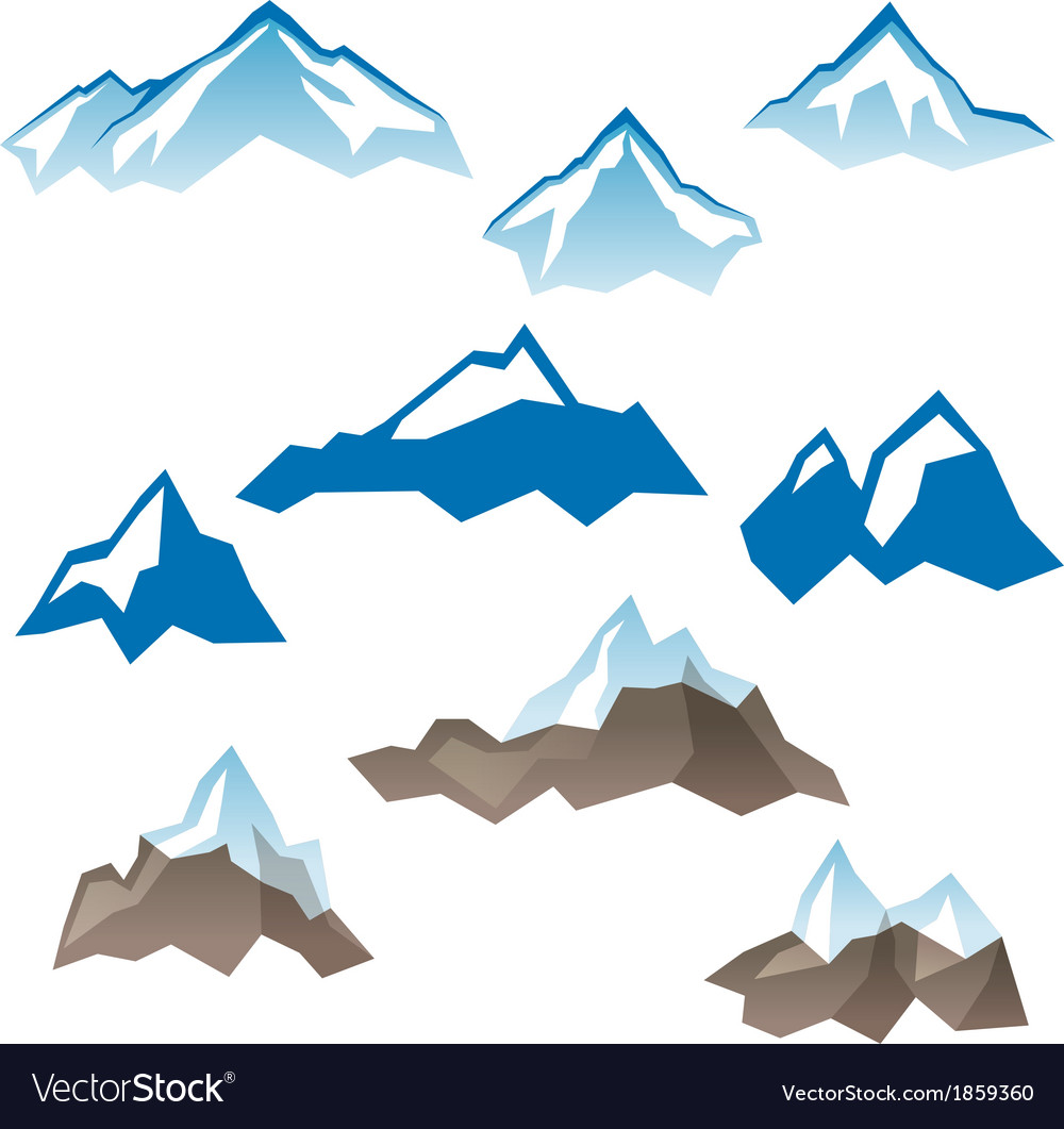 Mountains icons vector | Price: 1 Credit (USD $1)