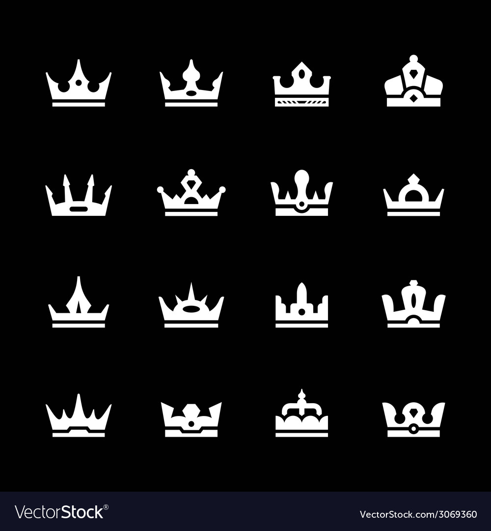 Set icons of crown vector | Price: 1 Credit (USD $1)