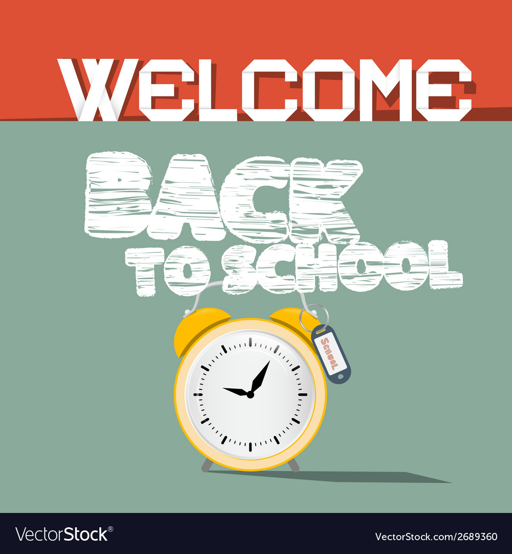 Welcome back to school retro vector | Price: 1 Credit (USD $1)