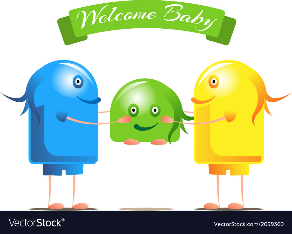 Welcome for the new baby vector | Price: 1 Credit (USD $1)