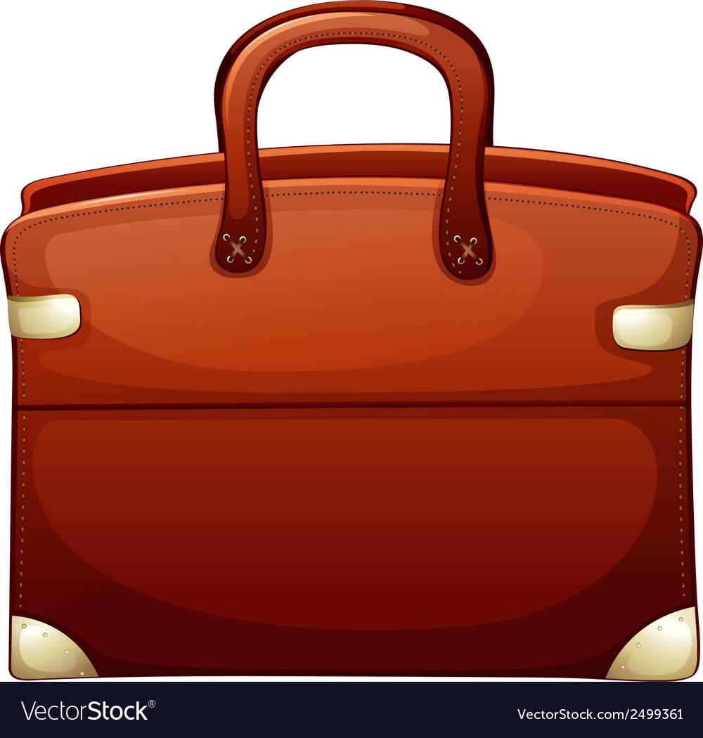 A brown handbag vector   Price: 1 Credit (USD $1)