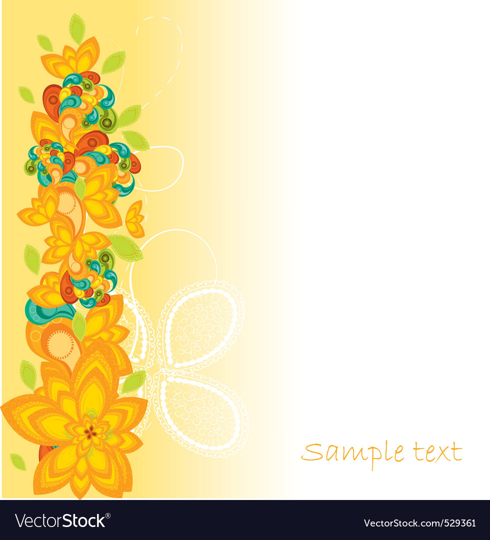 Abstract floral vector | Price: 1 Credit (USD $1)