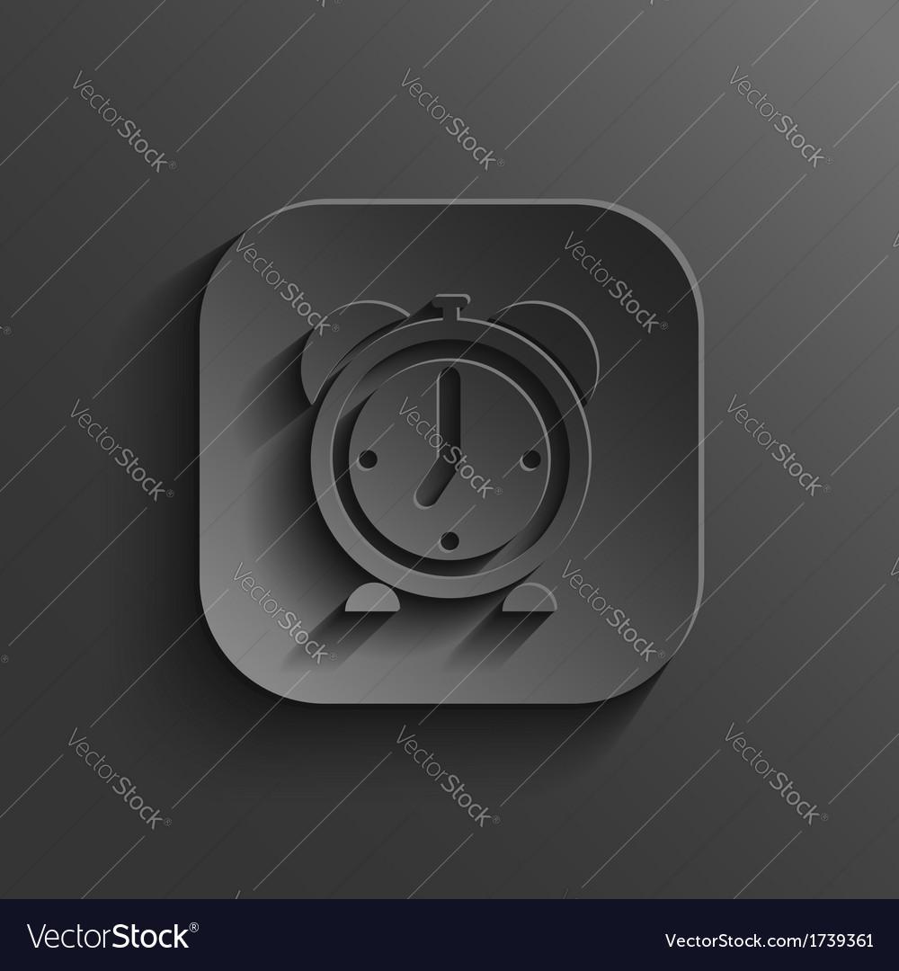 Alarm clock icon - black app button vector | Price: 1 Credit (USD $1)