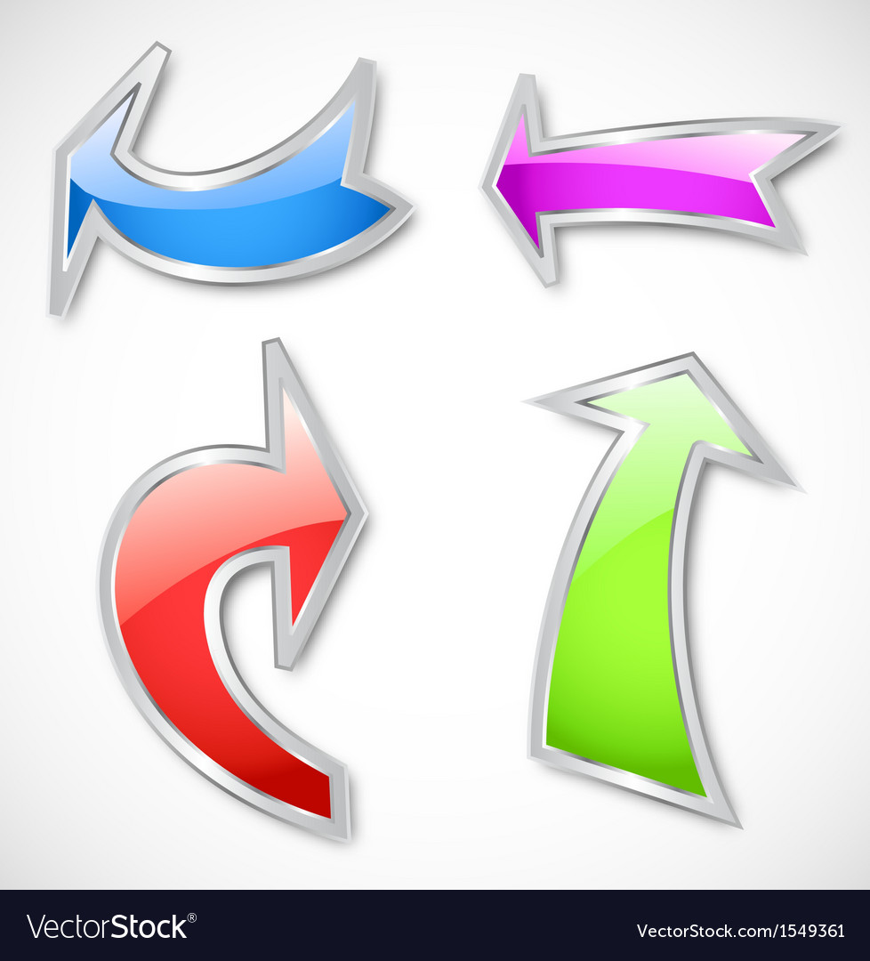 Arrows in various colors vector | Price: 1 Credit (USD $1)