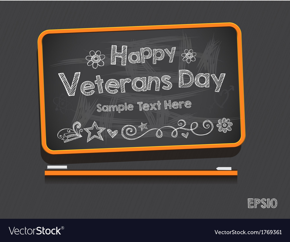 Blackboard valentines day background vector | Price: 1 Credit (USD $1)