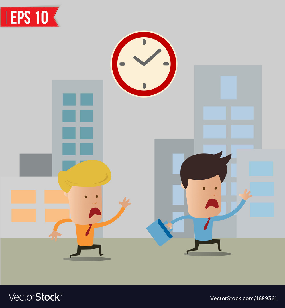Business man running during rush hour - - ep vector | Price: 1 Credit (USD $1)