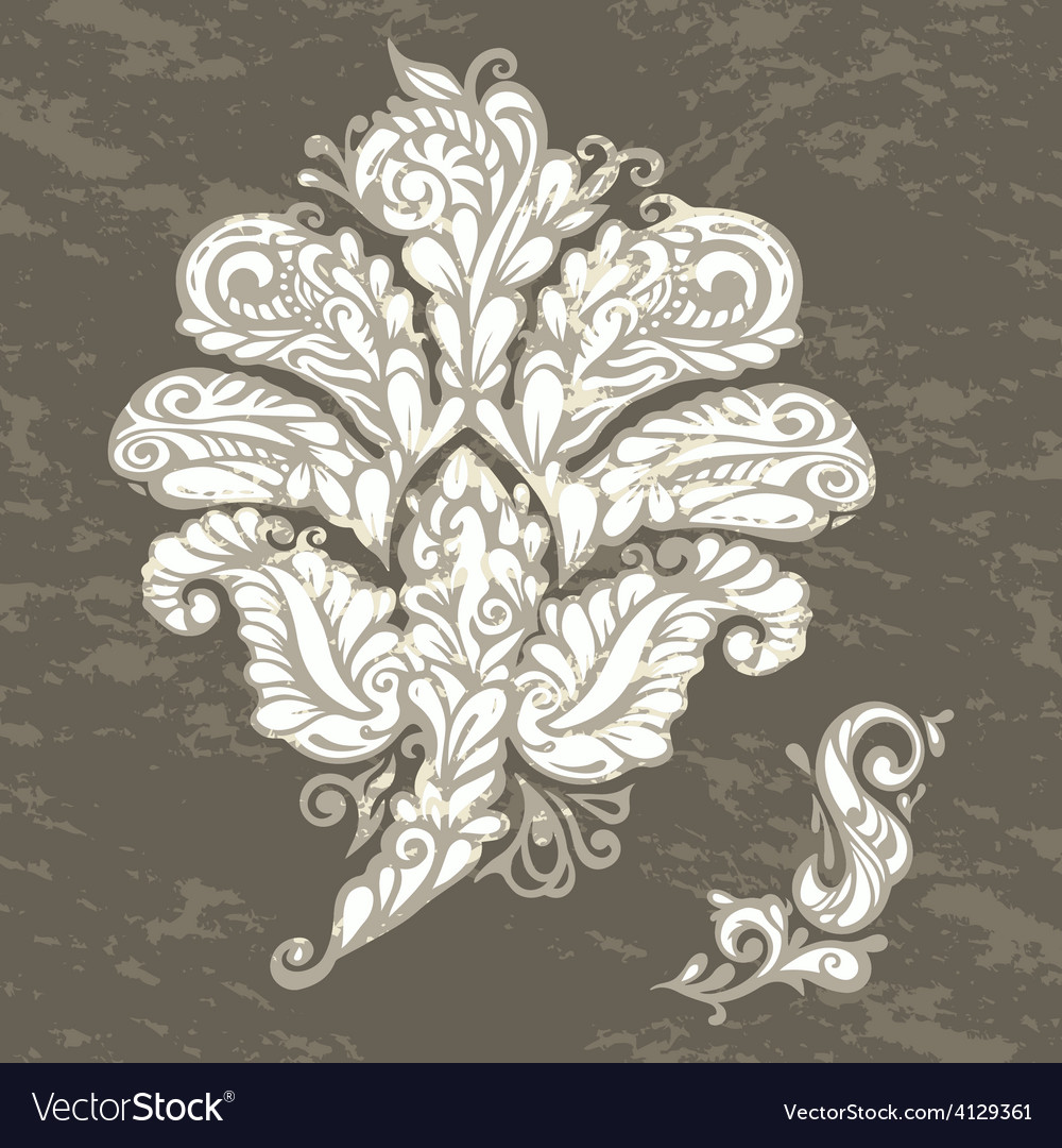 Floral design element renaissance style vector | Price: 1 Credit (USD $1)