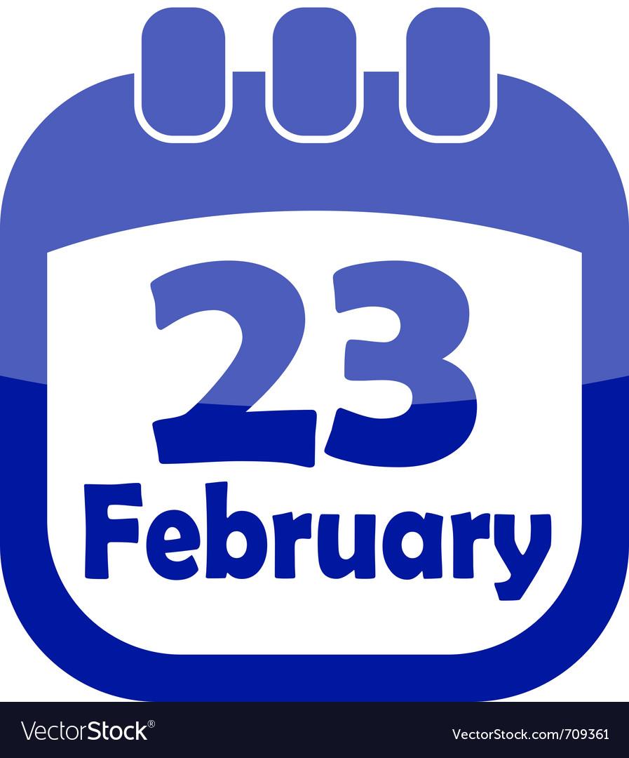 Icon february 23 calendar vector | Price: 1 Credit (USD $1)