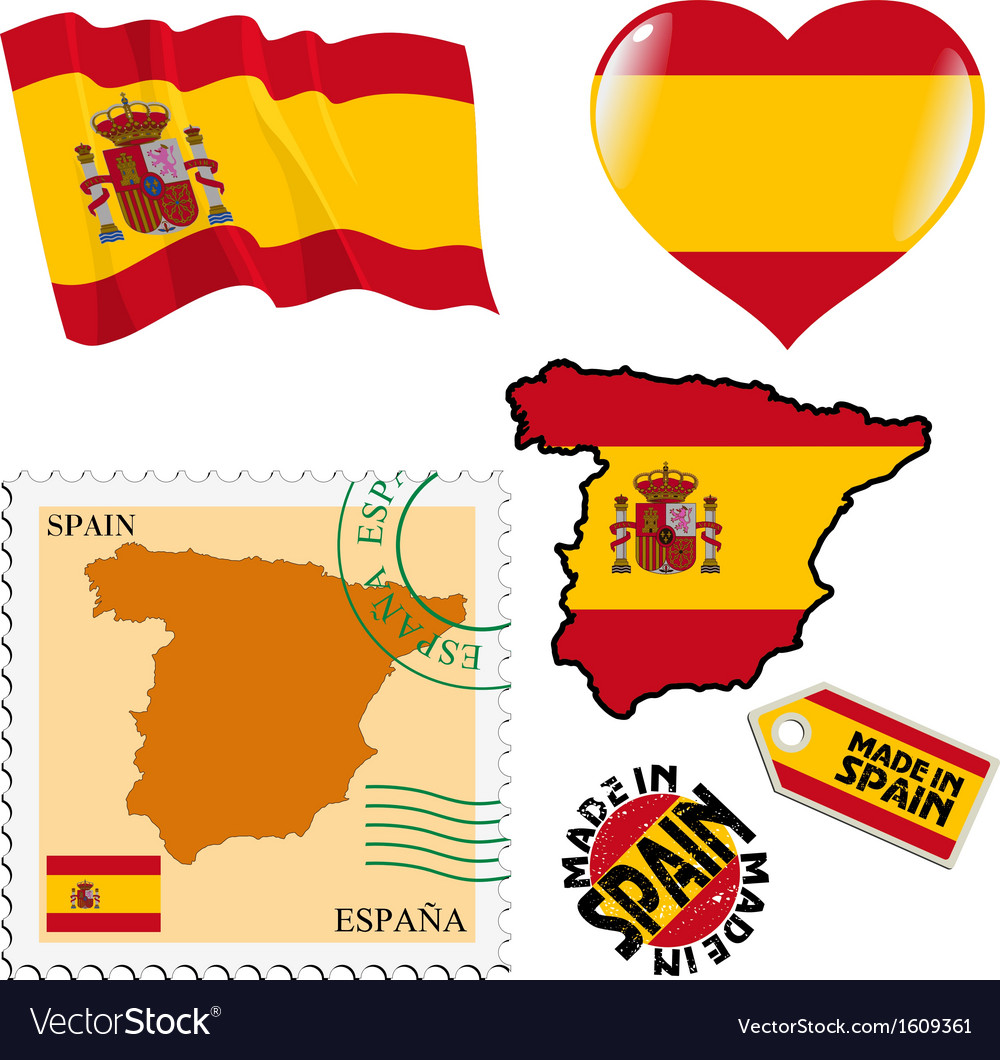 National colours of spain vector | Price: 1 Credit (USD $1)