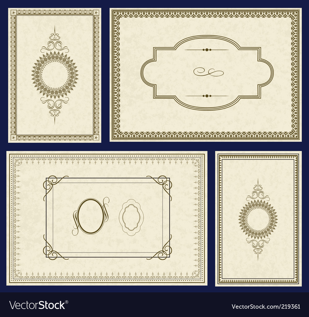 Parchment frames vector | Price: 3 Credit (USD $3)