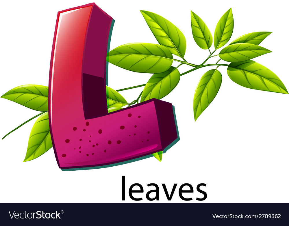 A letter l for leaves vector | Price: 1 Credit (USD $1)