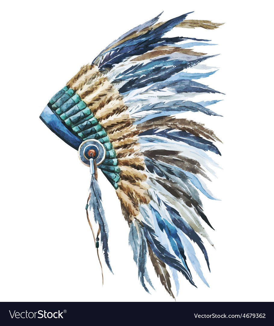American native hat vector