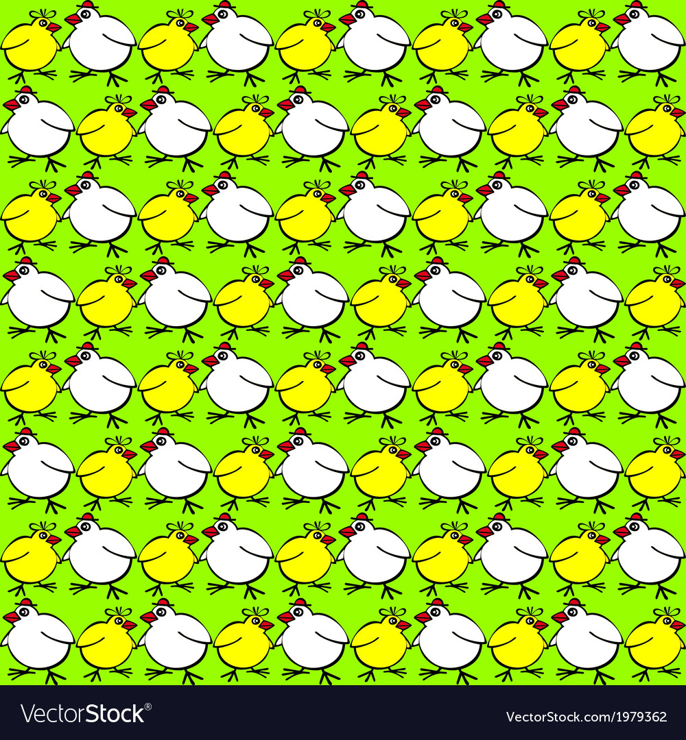 Backgroundd with spring chickens vector | Price: 1 Credit (USD $1)