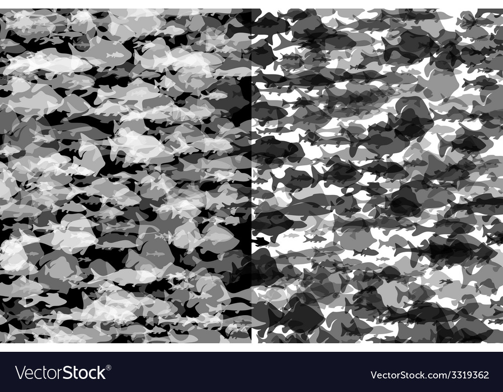 Black and white fish background vector | Price: 1 Credit (USD $1)