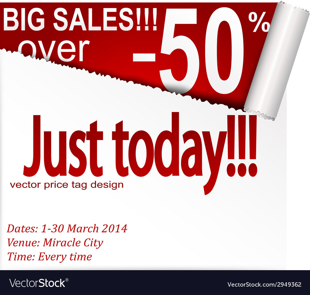 Coupon banner with torn edge vector   Price: 1 Credit (USD $1)