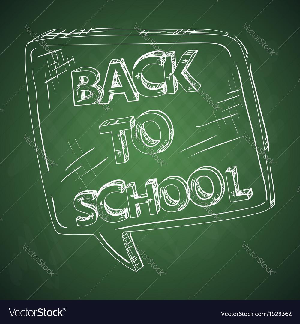 Education back to school chalkboard social bubble vector | Price: 1 Credit (USD $1)