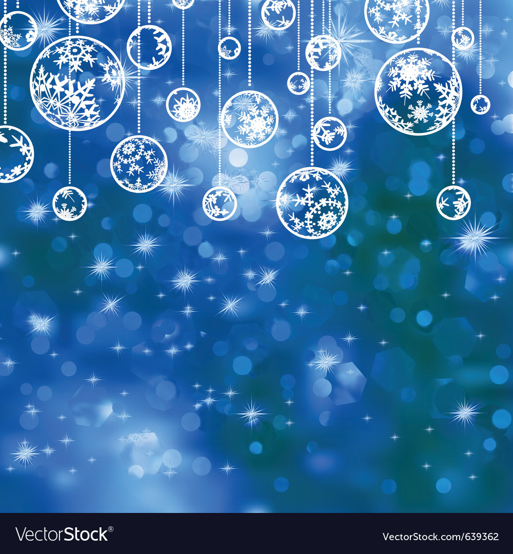 Elegant blue christmas background vector | Price: 1 Credit (USD $1)
