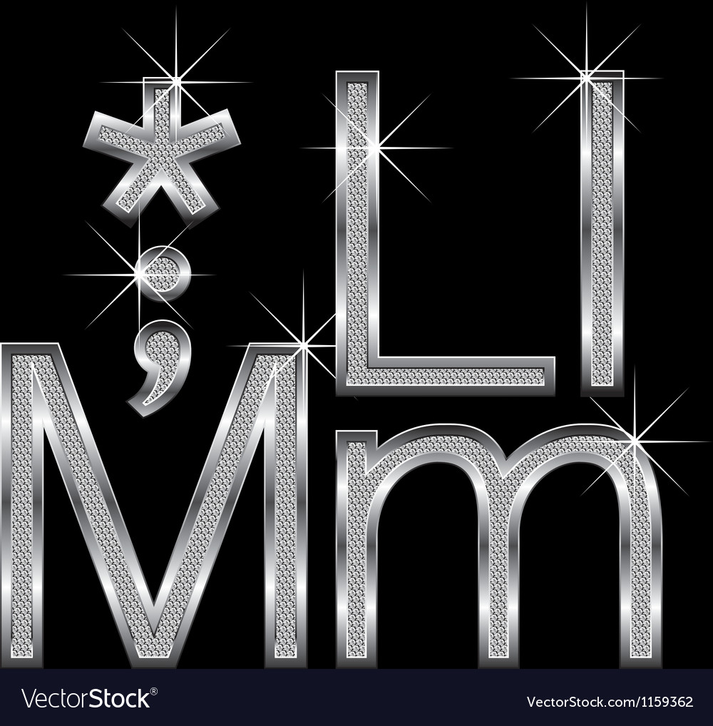 Mine metallic letters new original layer diamond vector | Price: 1 Credit (USD $1)