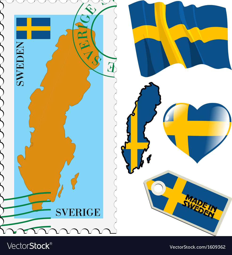 National colours of sweden vector | Price: 1 Credit (USD $1)