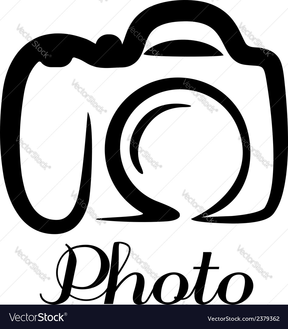 Photo camera emblem vector | Price: 1 Credit (USD $1)