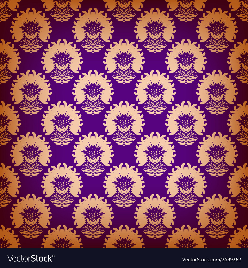 Seamless pattern with floral elements vector | Price: 1 Credit (USD $1)