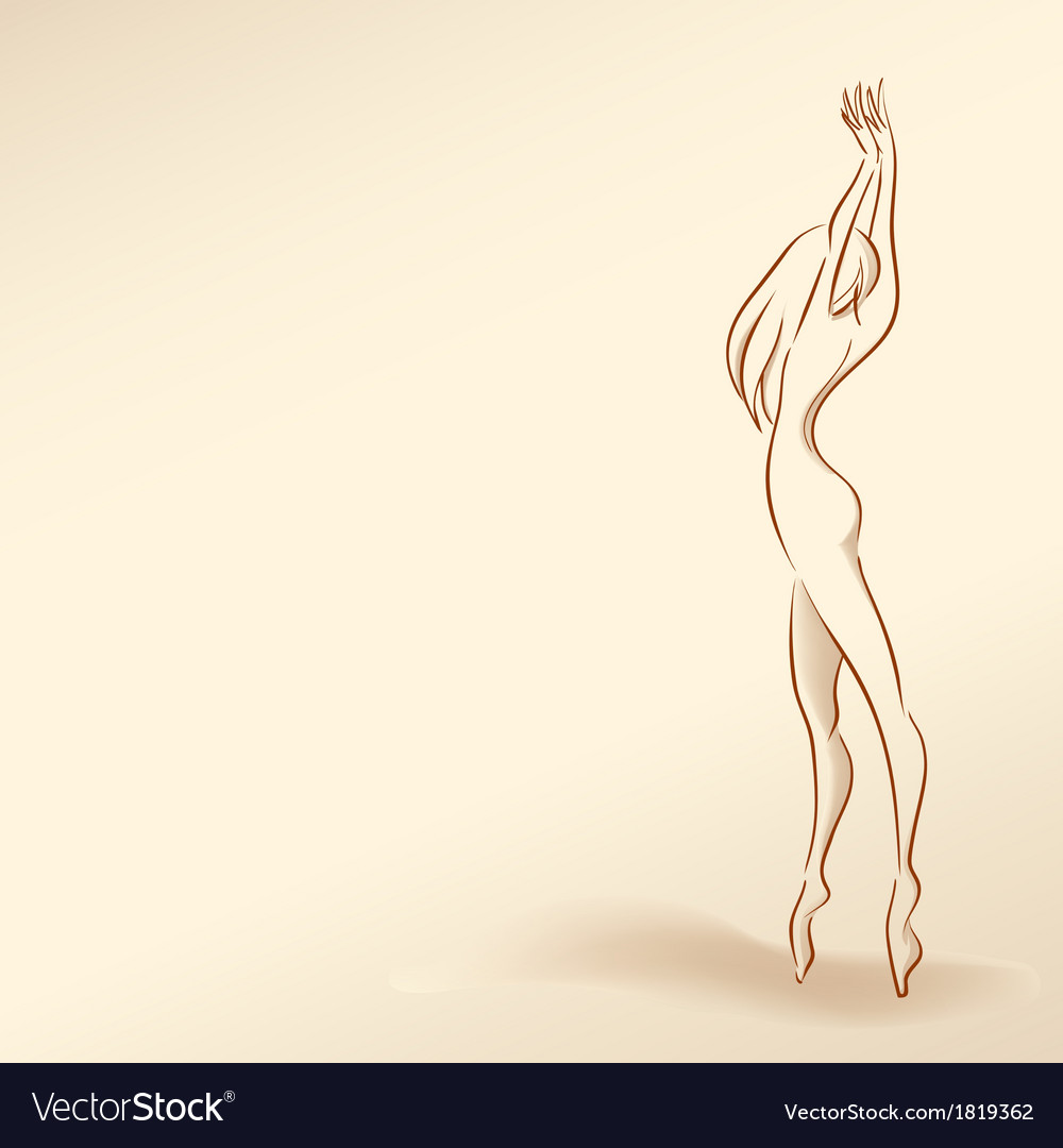 Silhouette of woman in pastel tones01 vector | Price: 1 Credit (USD $1)