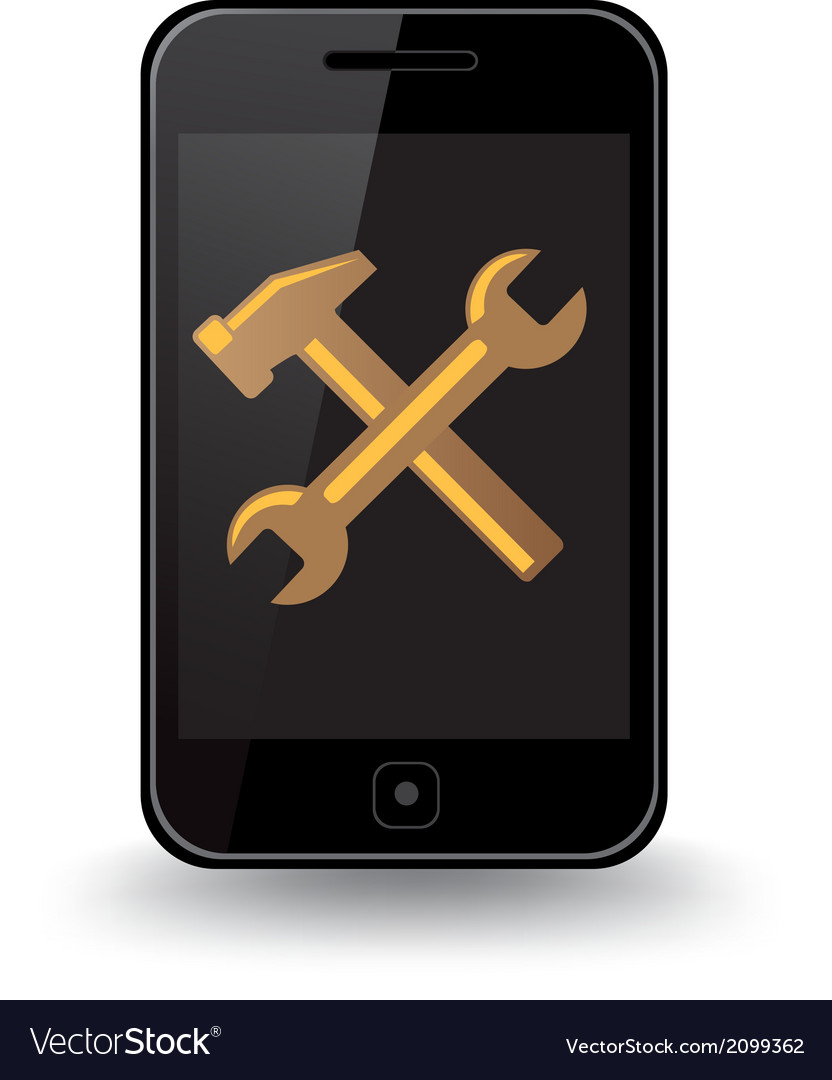 Smart phone repair vector | Price: 1 Credit (USD $1)