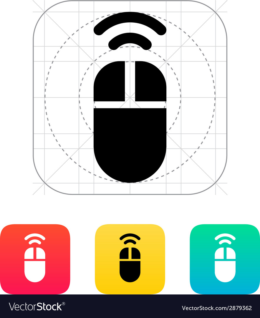 Wireless mouse icon vector | Price: 1 Credit (USD $1)