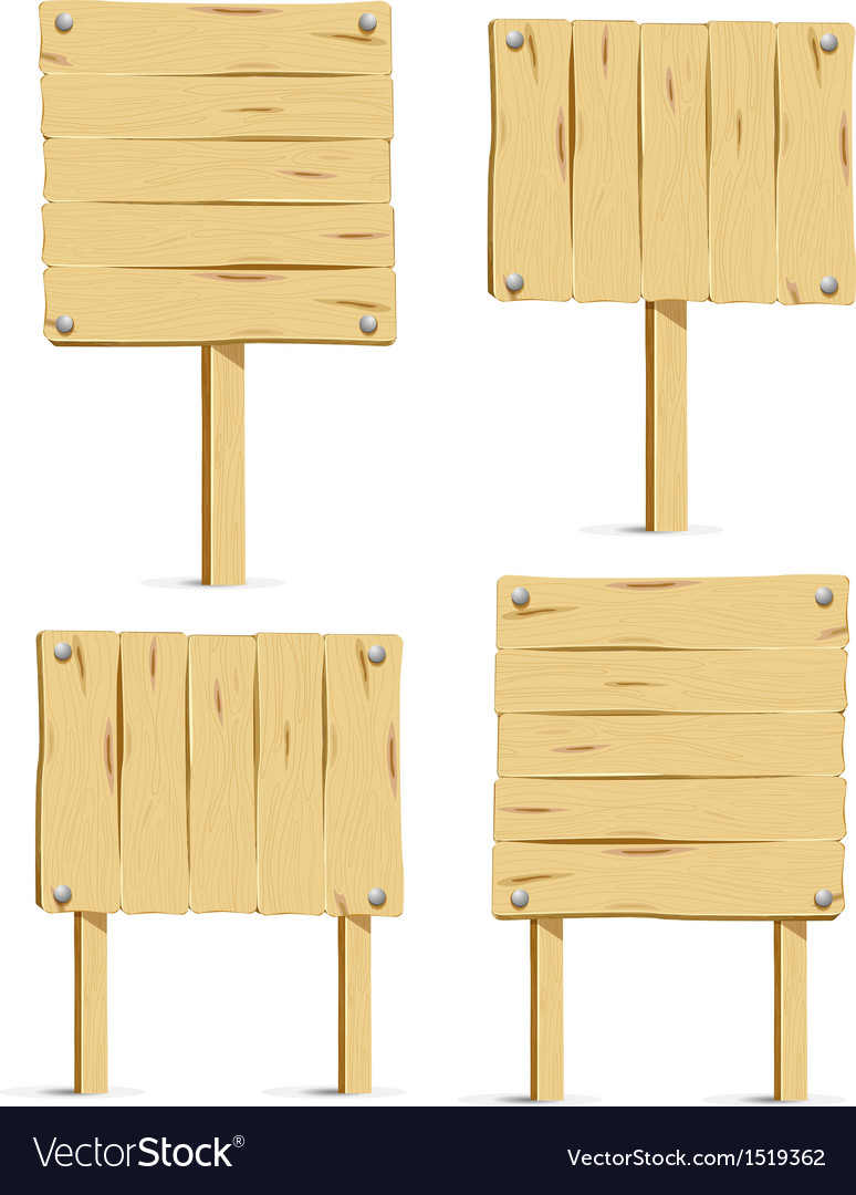 Wooden signboards vector   Price: 1 Credit (USD $1)