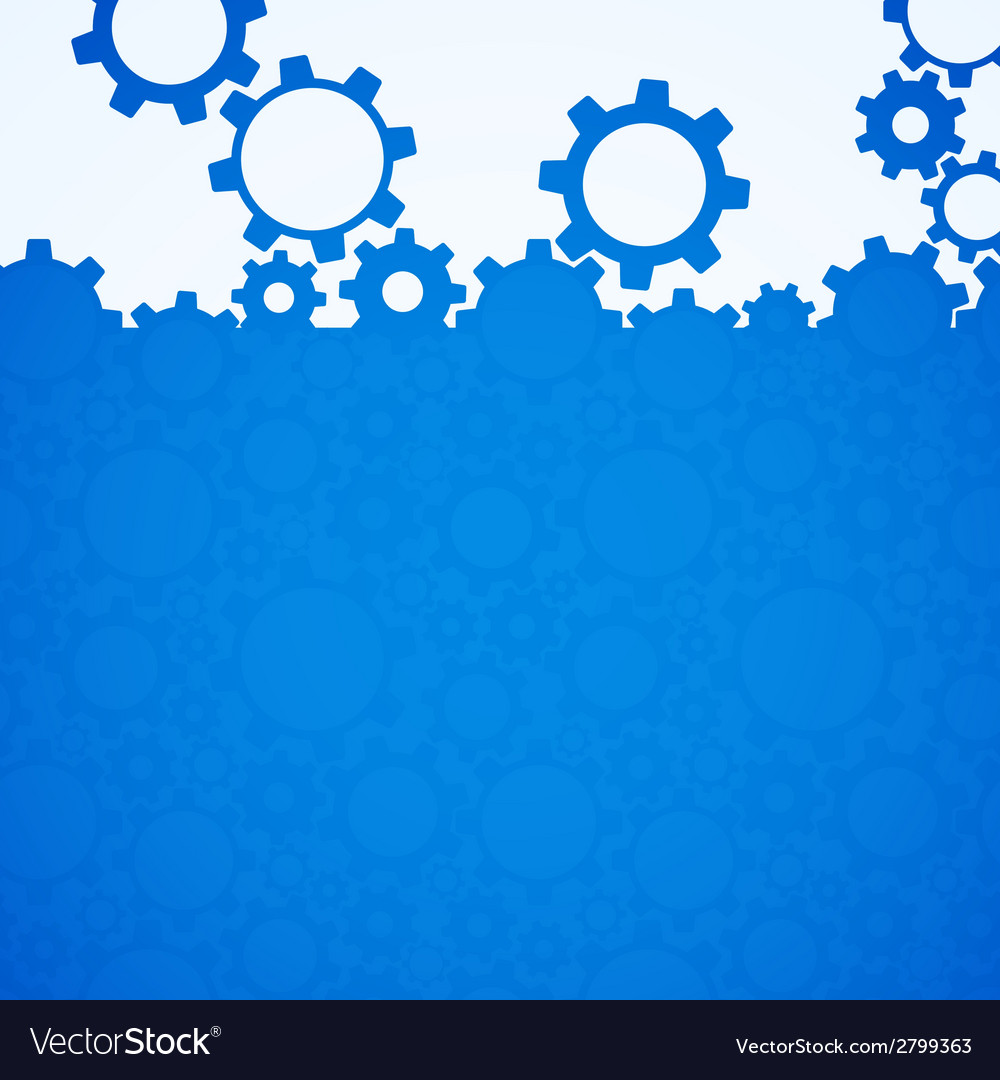Abstract blue simple gear background vector | Price: 1 Credit (USD $1)