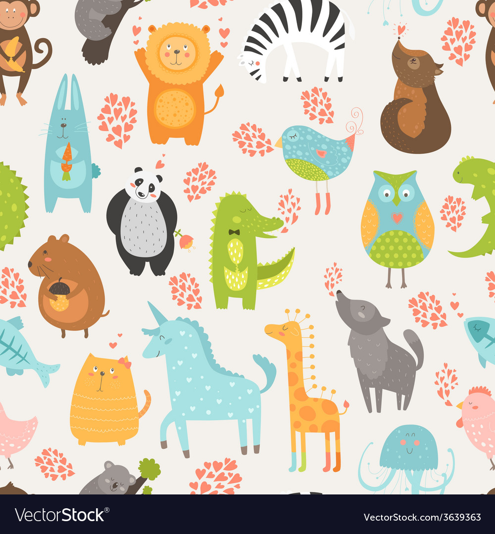 Animal background vector
