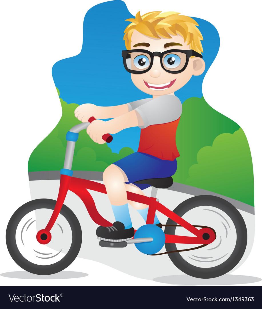 Bicycle boys vector | Price: 1 Credit (USD $1)