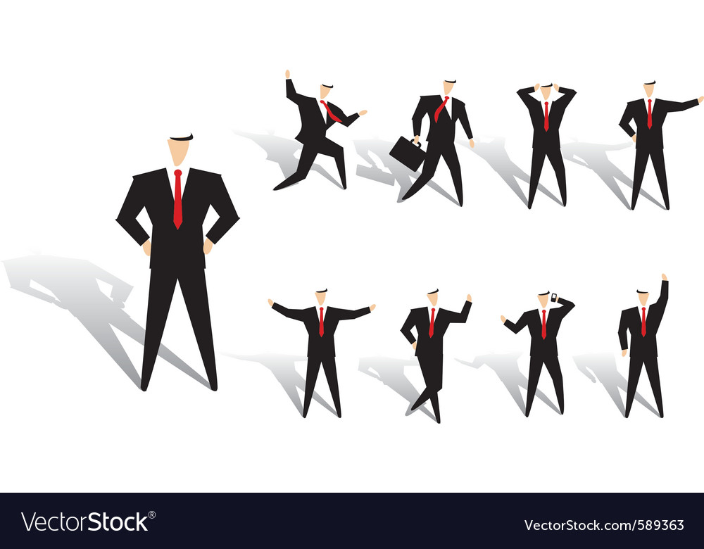 Business man action vector | Price: 1 Credit (USD $1)