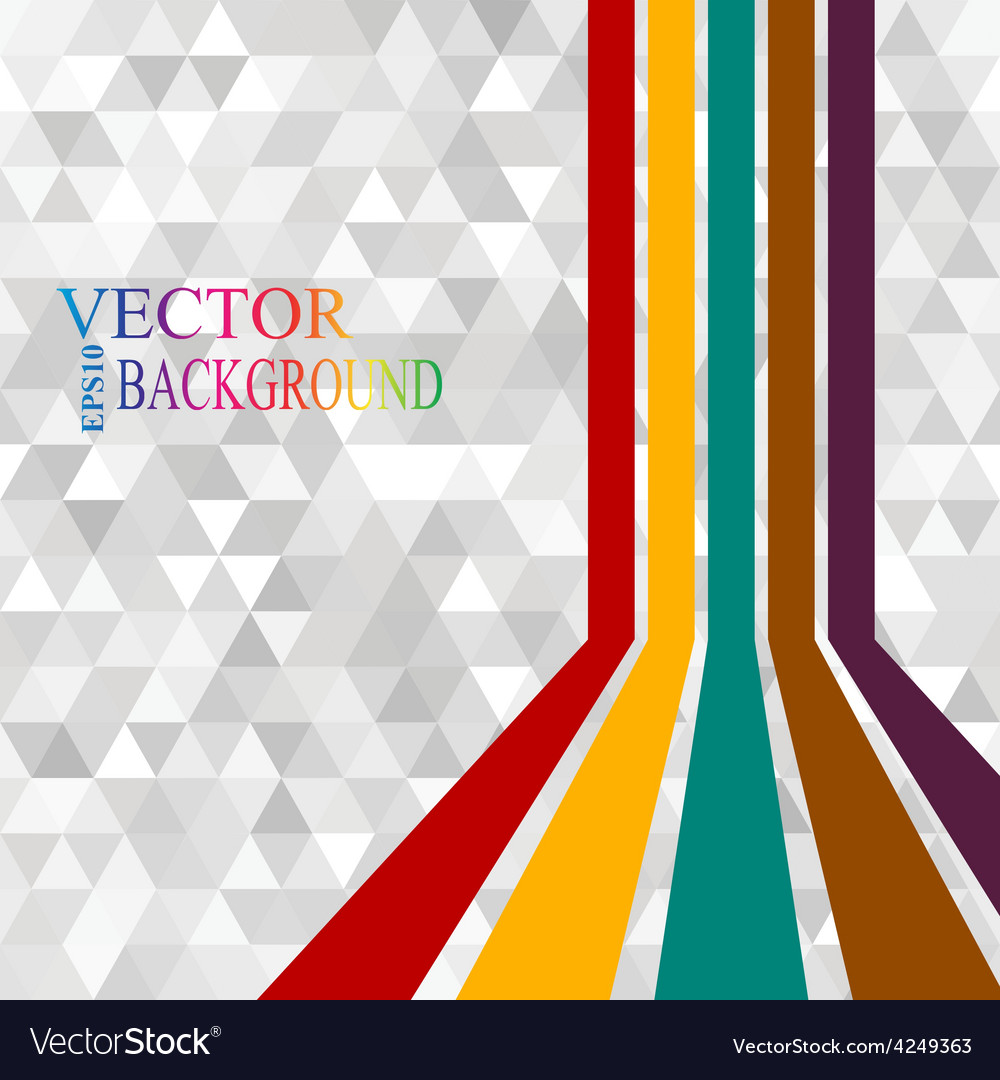 Colorful stripes with 3 d dimensional effect vector | Price: 1 Credit (USD $1)