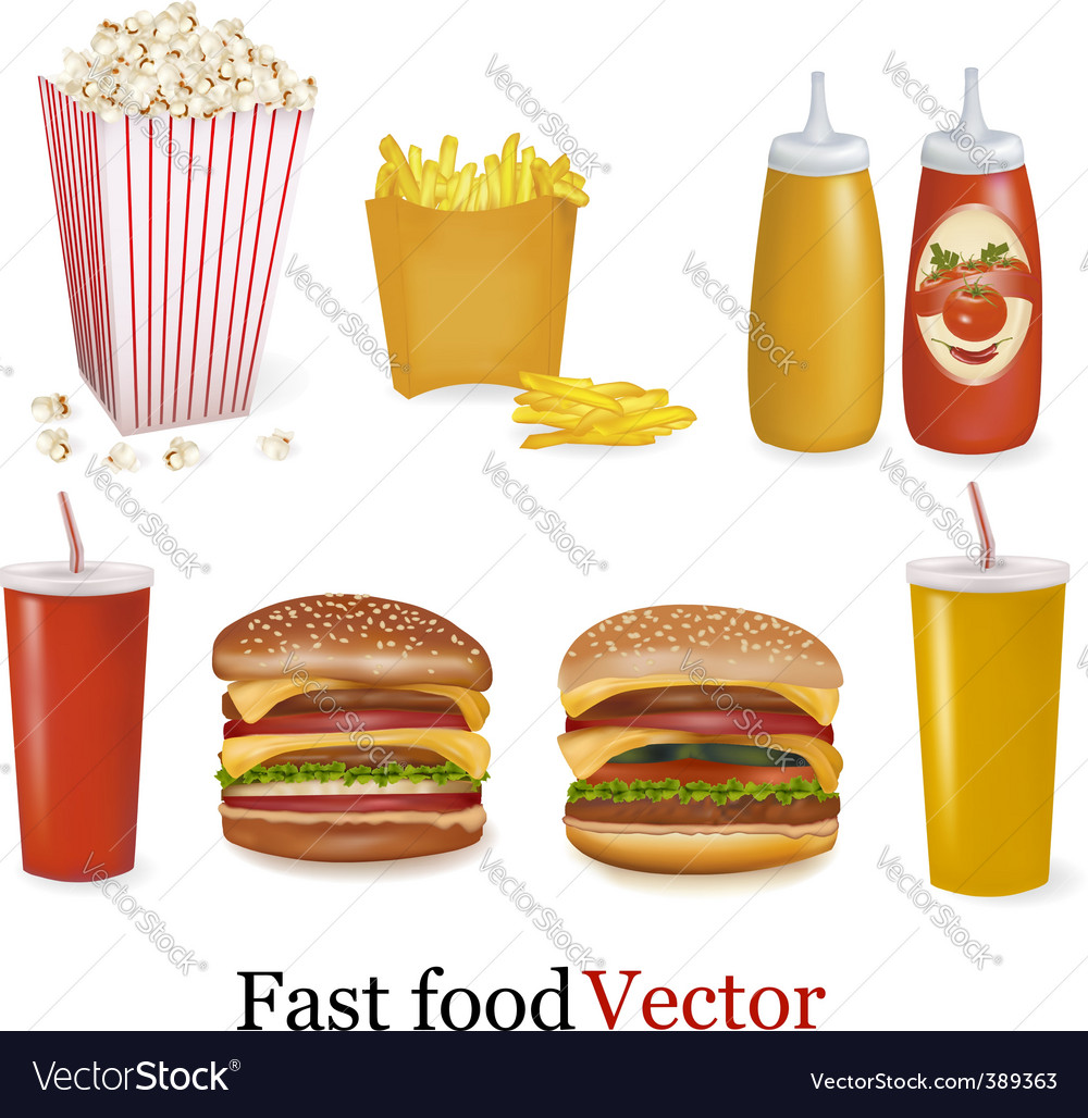 Fast-food vector | Price: 1 Credit (USD $1)