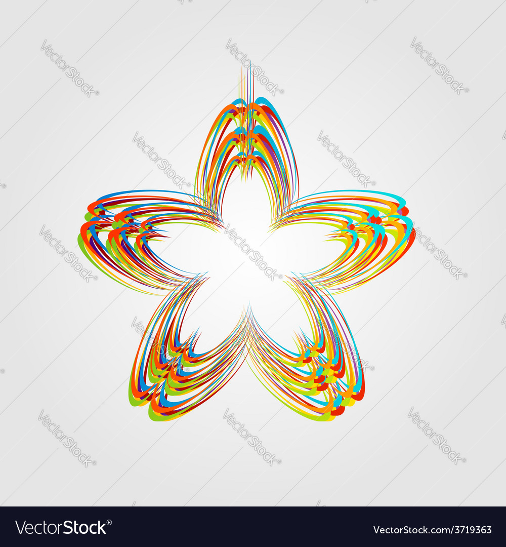 Fractal design element or banner for web vector | Price: 1 Credit (USD $1)