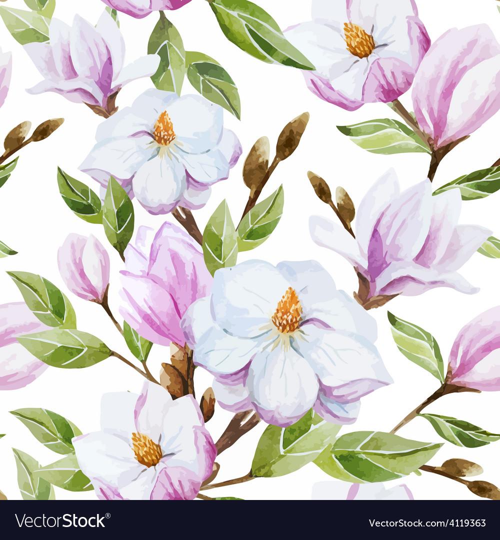 Magnolia pattern vector   Price: 1 Credit (USD $1)