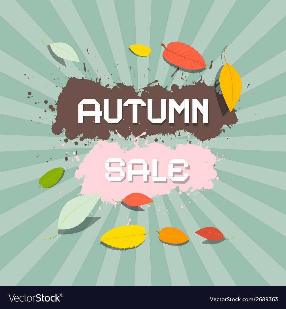 Retro autumn sale background vector | Price: 1 Credit (USD $1)