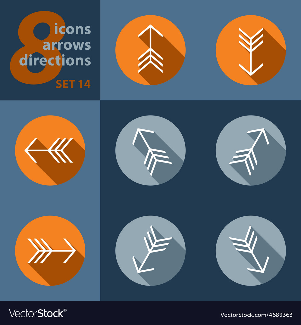 Set of eight icons with arrows vector | Price: 1 Credit (USD $1)