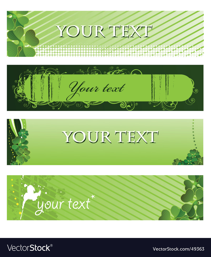 Set of green banners vector | Price: 1 Credit (USD $1)