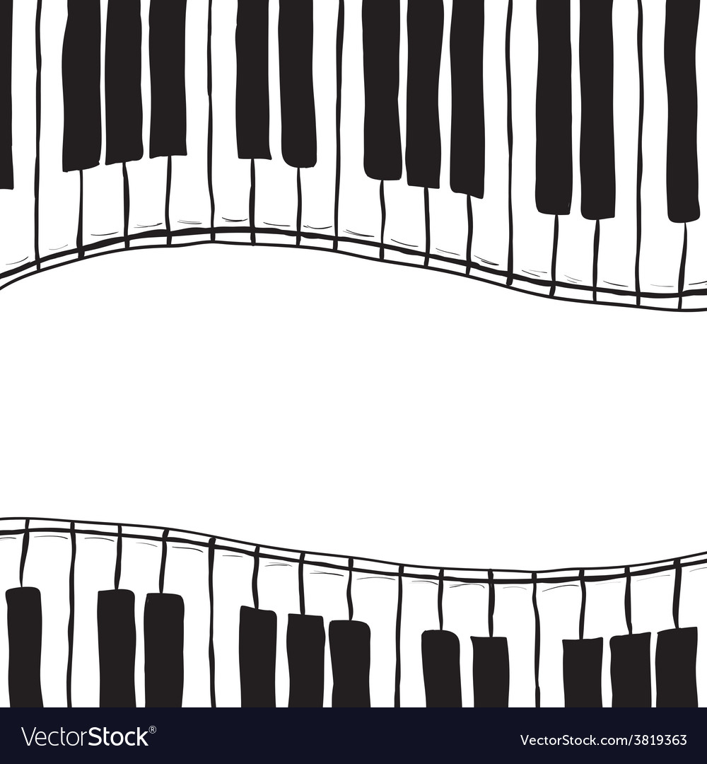 Two piano keys - sketch style vector | Price: 1 Credit (USD $1)