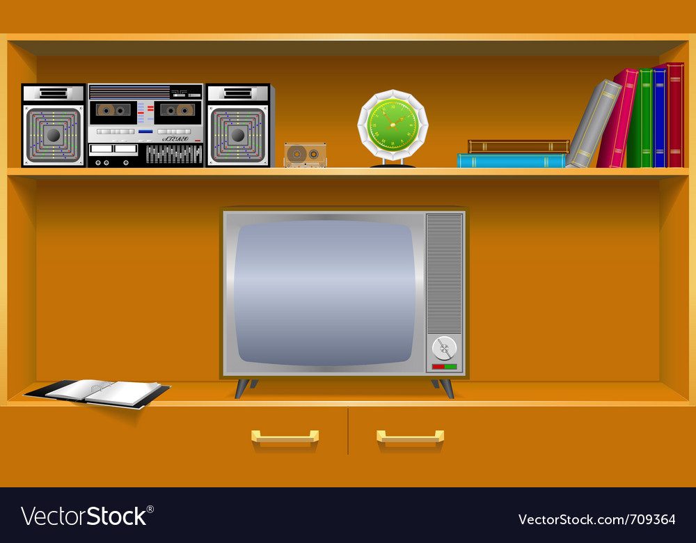 Cabinet household items vector | Price: 1 Credit (USD $1)