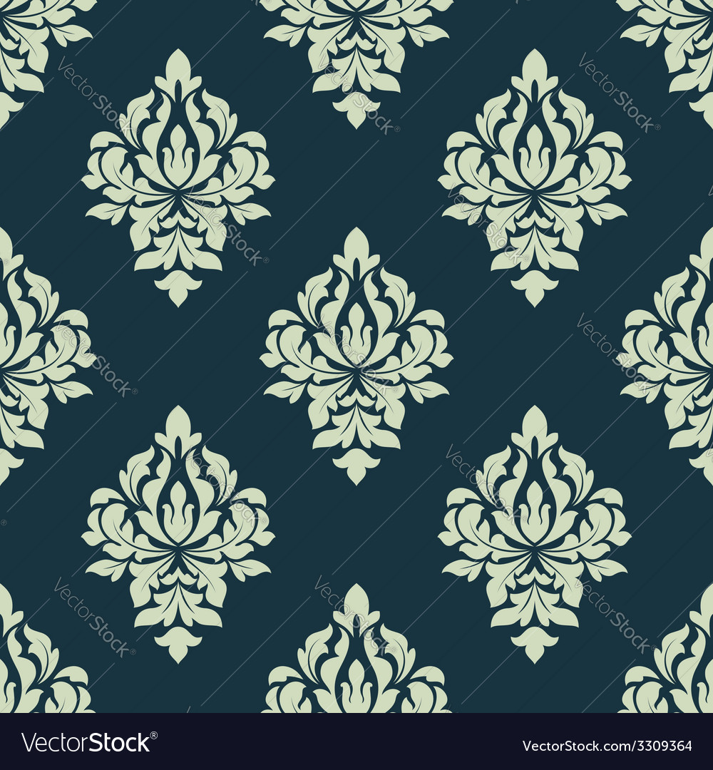 Classic damask seamless pattern vector | Price: 1 Credit (USD $1)